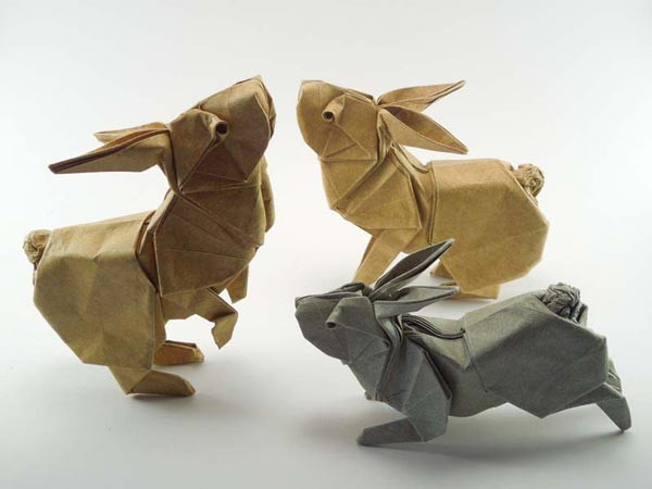 Origami Rabbits by Ron Koh (Singapore)